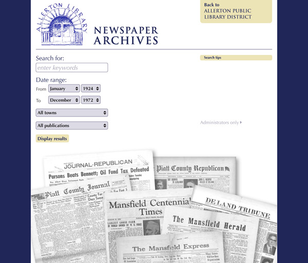 Allerton Public Library District Digital Newspaper Archives